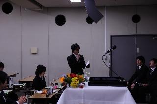 2008修了式/総代挨拶/川上くん