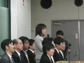 2009年度入学式 新任教員新妻先生挨拶