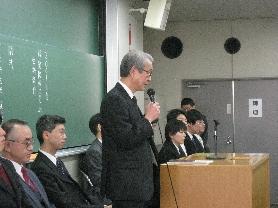 2009年度入学式 村奈嘉先生挨拶