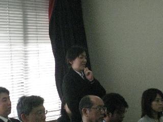 2009専攻入学式/教職員紹介/杉本助教