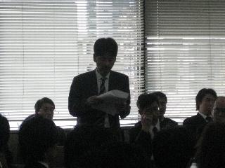 2009専攻入学式/祝辞/松本先生3